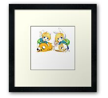 fin and fionna baby anime style Framed Print
