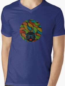 Colorful hair Mens V-Neck T-Shirt
