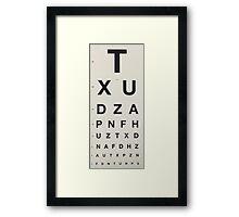 Eye Chart Framed Print