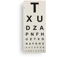 Eye Chart Canvas Print