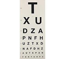 Eye Chart Photographic Print