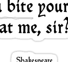 Romeo and Juliet - Shakespeare - Bite Your Thumb Sticker