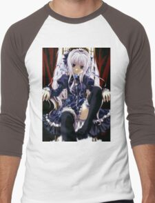 Anime Ahegao Ecchi,wow Men's Baseball ¾ T-Shirt