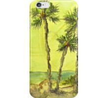Green Sky Palms iPhone Case/Skin