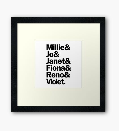Sutton Foster Roles | White Framed Print