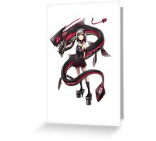 pokemon girl looking cute Greeting Card