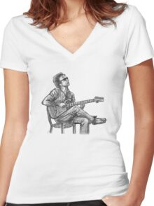 JJ Cale Women's Fitted V-Neck T-Shirt