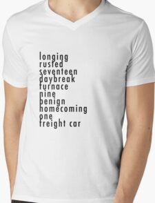 Bucky's Trigger Words CA:CW Mens V-Neck T-Shirt