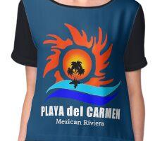 Playa del Carmen, Mexico Chiffon Top