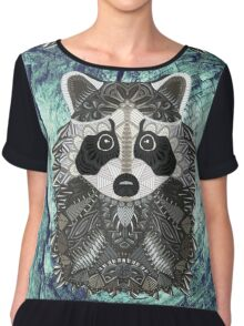 Ornate Raccoon Chiffon Top
