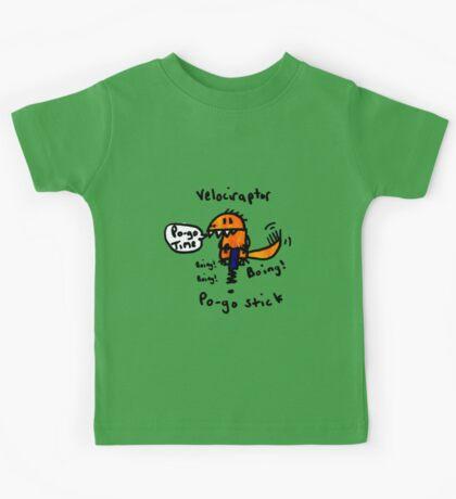 Pogo Velociraptor Kids Tee