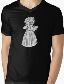Don't Cry, Li'l Angel Mens V-Neck T-Shirt
