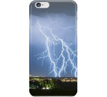 Northeast Colorado Lightning Strike and City Lights iPhone Case/Skin