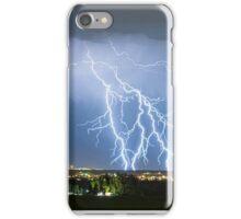 Northeast Colorado Lightning Strike and City Lights iPhone Case/Skin
