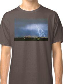 Northeast Colorado Lightning Strike and City Lights Classic T-Shirt