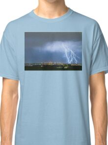 Northeast Colorado Lightning Strike and City Lights Classic T-Shirt