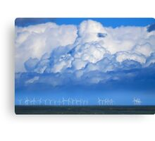 Wind Farm in the Channel Canvas Print
