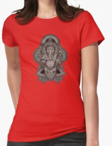Ganesha (gray) Womens Fitted T-Shirt