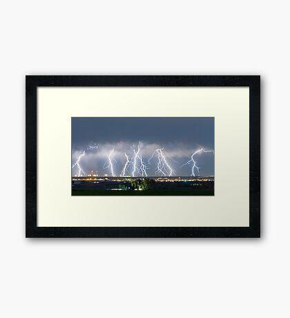 Severe Thunderstorm Panorama Framed Print