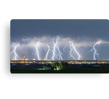 Severe Thunderstorm Panorama Canvas Print