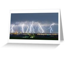 Severe Thunderstorm Panorama Greeting Card