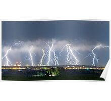 Severe Thunderstorm Panorama Poster