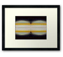 Binocular Grid Framed Print