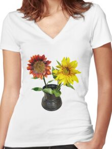 Sunshine in a jar Women's Fitted V-Neck T-Shirt