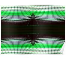 Green Double Delta Abstract Poster