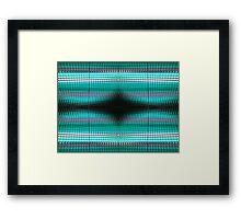 Aqua Grid Abstract Framed Print
