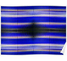 Blue Grid Abstract Poster