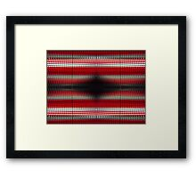 Red Grid Abstract Framed Print