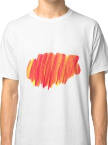Funky Paint Stroke Orange and Yellow Classic T-Shirt