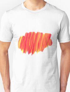 Funky Paint Stroke Orange and Yellow Unisex T-Shirt