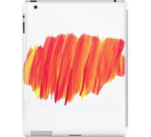 Funky Paint Stroke Orange and Yellow iPad Case/Skin