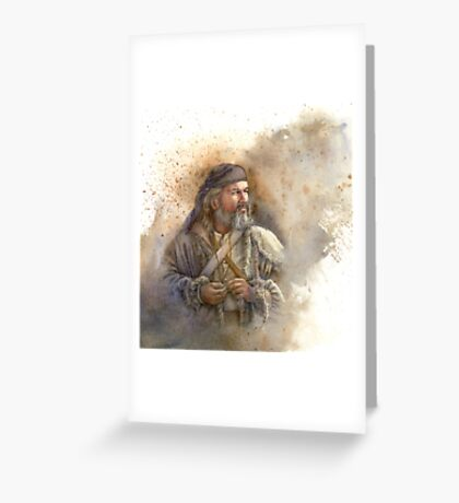 Over Mountain Man Greeting Card