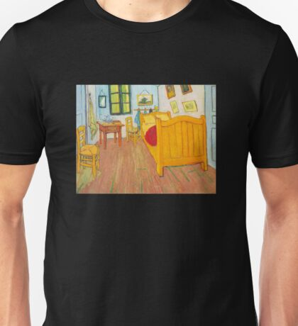 'The Bedroom in Arles, Saint Remy' by Vincent Van Gogh (Reproduction) Unisex T-Shirt