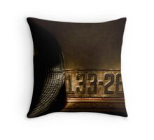 Old License Plate Throw Pillow