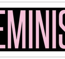 Feminist (Pink) Logo Beyonce (Self-Titled Style) Sticker