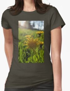 Dandelion Flower  Womens Fitted T-Shirt