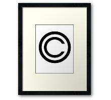 Copyright Framed Print