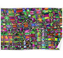 Colour In The Detail - Abstract Multi Coloured Painting Poster