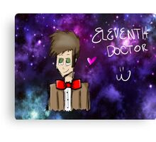 Eleventh Doctor Galaxy  Canvas Print