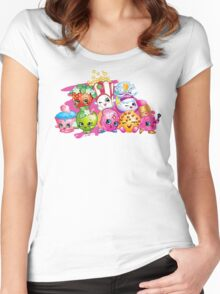 Shopkins Women's Fitted Scoop T-Shirt