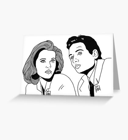 Scully and Mulder Greeting Card