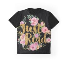 Just Read - Gold Foil - Black Graphic T-Shirt
