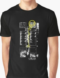 Smile! You're at 221B - yellow, gritty Graphic T-Shirt