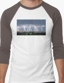 Severe Thunderstorm Panorama Men's Baseball ¾ T-Shirt