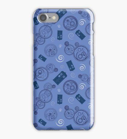 Gallifreyan Phrases - Blue iPhone Case/Skin