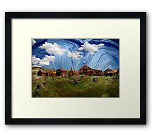 Wooden Ghost Town Framed Print